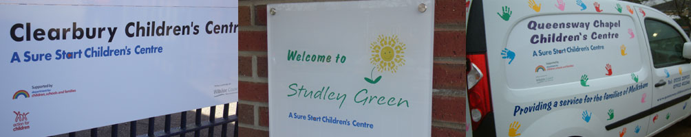 Children's Centre Signs