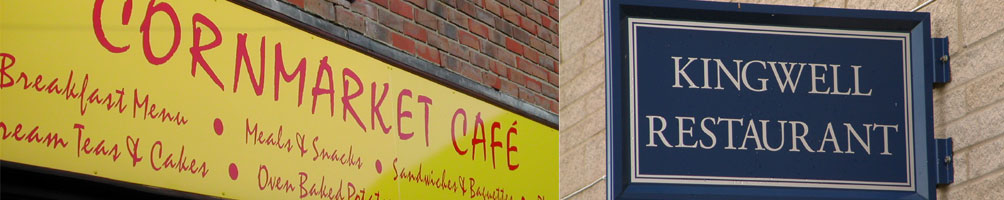 Restaurant & Café Signs