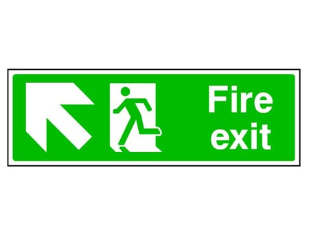 Fire Exit Sign Up/Left Arrow