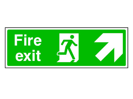 Fire Exit Sign Up/Right Arrow