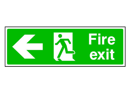 Fire Exit Sign Left Arrow
