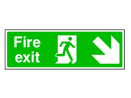 Fire Exit Down Right Arrow