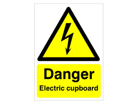 Electric Cupboard Warning