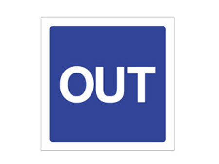 One Way OUT sign