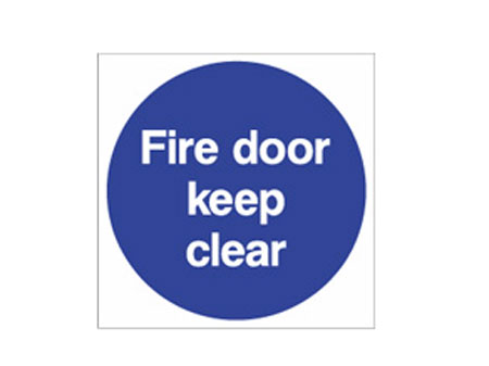 Door signs fire door keep clear