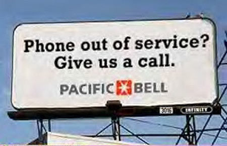 Ironic Pacific Bell sign
