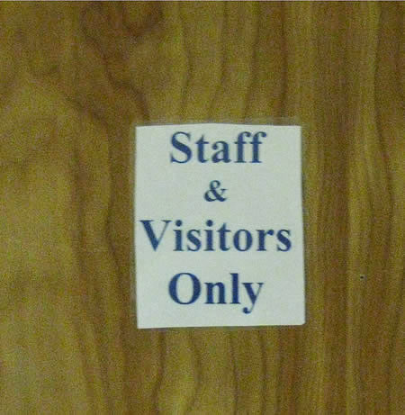 Pointless door sign