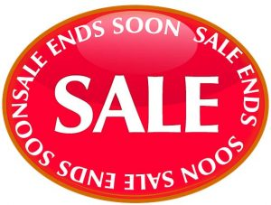sale sign in red