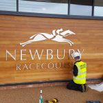 Mirage Signs in actin at Newbury racecourse
