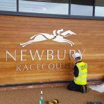 Mirage Signs in actin at Newbury racecourse