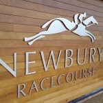 New shape cut letters Newbury Racecourse