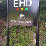 EHD London premises sign - Mirage Signs