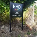 EHD London powder-coated sign - Mirage Signs
