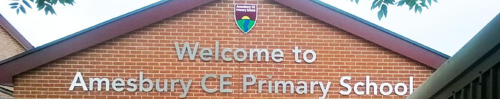 amesbury CE school sign