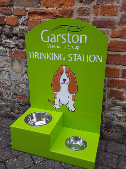 mirage signs drinking station